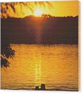Minneapolis Sunset Love Wood Print