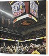Minnesota Fans Celebrate Victory At Williams Arena Wood Print