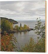 Minnesota North Shore Wood Print