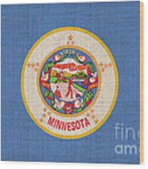 Minnesota State Flag Wood Print by Pixel Chimp