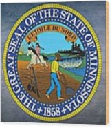 Minnesota State Seal Wood Print