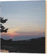 Minnesota Sunset Wood Print