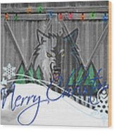 Minnesota Timberwolves Wood Print