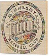 Minnesota Twins Logo Vintage Wood Print