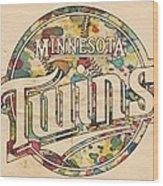 Minnesota Twins Poster Vintage Wood Print