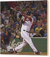 Minnesota Twins V Boston Red Sox Wood Print