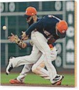Minnesota Twins v Houston Astros Wood Print