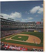 Minnesota Twins V Texas Rangers Wood Print