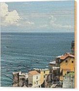 Minori By The Sea Wood Print by H Hoffman