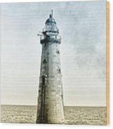 Minots Ledge Lighthouse Wood Print