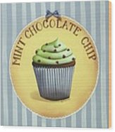 Mint Chocolate Chip Cupcake Wood Print by Catherine Holman
