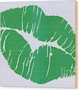 Mint Green Kiss Wood Print