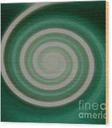Mint Green Swirl Wood Print