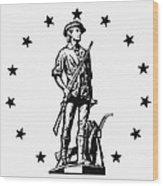 Minuteman Wood Print