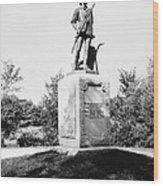 Minuteman Statue Wood Print