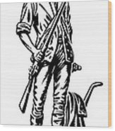 Minutemen Wood Print