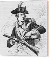 Minutemen Soldier Wood Print