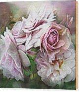 Miracle Of A Rose - Mauve Wood Print