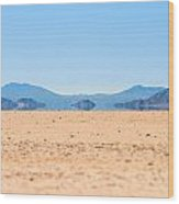 Mirage In The Death Valley Wood Print