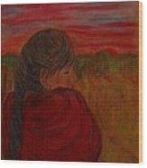 Miriam's Sunset Wood Print