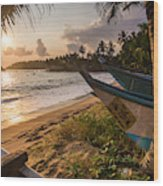 Mirissa Beach, Traditional Oruva Wood Print