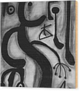Miro Wood Print by Andrea Vazquez-Davidson
