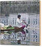 Miroir Wood Print by Rudolf Derose
