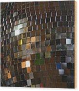 Mirror Ball Wood Print