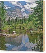 Mirror Lake Yosemite Wood Print