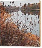 Mirror Smooth River Wood Print