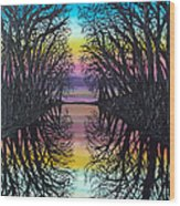 Mirror Water Wood Print