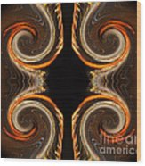 Mirrored Abstract Wood Print