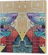 Mirrored Aztec Dog Wood Print