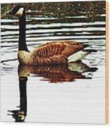 Mirrored Goose Wood Print