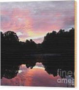 Mirrored In The Lake Wood Print