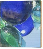 Mirrored Marbles Wood Print