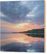Mirrored Sunset Wood Print