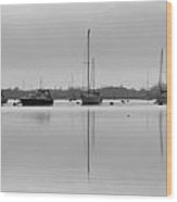 Mirrored Yachts Wood Print