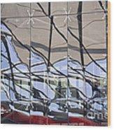 Mirroring On Vitreous Wall Wood Print