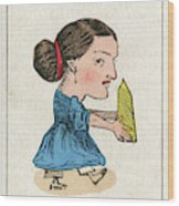 Miss Grits The Grocer's  Daughter Wood Print