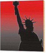 Miss Liberty Abstract Wood Print
