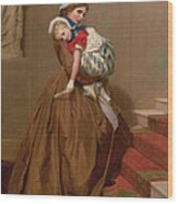 Miss Lilys Return From The Ball, 1866 Wood Print