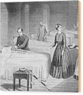 Miss Nightingale In The Hospital Wood Print