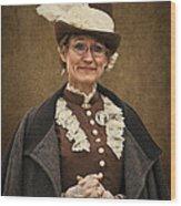 Miss Prim Wood Print