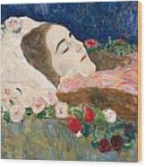 Miss Ria Munk On Her Deathbed Wood Print