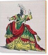 Miss Sainval As Zenobie In Zenobie Wood Print