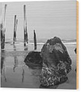 Missing Pier Wood Print