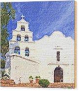Mission Basilica San Diego De Alcala Usa Wood Print