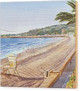 Mission Beach San Diego Wood Print by Mary Helmreich
