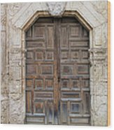 Mission Concepcion Door  Wood Print
